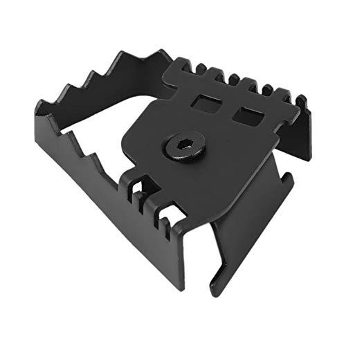 KSTE Bremspedal, Hinten Fußbremshebel Pedal Vergrößern Verlängerung Pad Extender for BMW F800GS F700GS Schwarz
