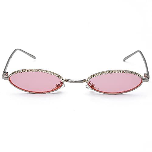 ShZyywrl Gafas De Sol De Moda Unisex Gafas De Sol De Ojo De Gato A La Moda para Mujer Y Hombre, Gafas De Sol Ovaladas, Gafas De Aleación para Mujer, Hombre, UV