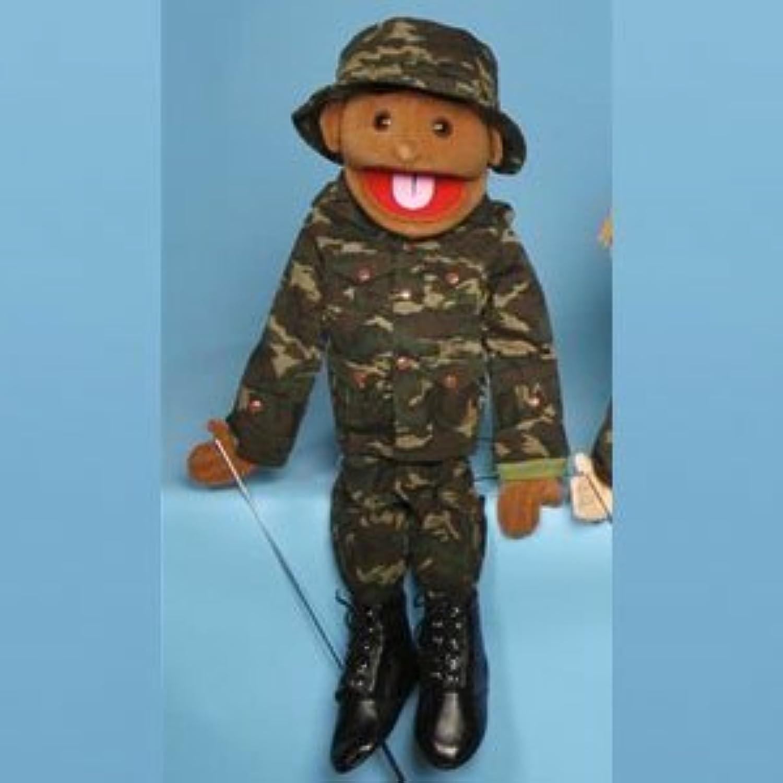 Sunny Toys 28 Ethnic Boy In Army Uniform Full Body Puppet by Globee