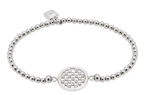 Jewels by Leonardo Damen-Armband Loretta, Edelstahl mit Schliffkristallen, Länge 65 mm, 016679