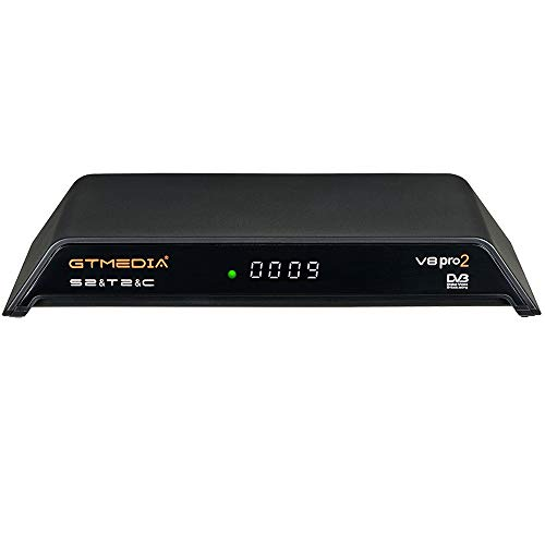 GT MEDIA V8 PRO2 Decodificador Satélite Receptor TDT de TV por Terrestre DVB-S/S2/S2X DVB-T/T2 DVB-Cable WiFi Ethernet 1080P Full HD H.265 HEVC