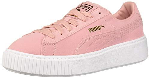 PUMA Women's Suede Platform Sneaker, Bridal Rose Team Gold, 5.5 M US