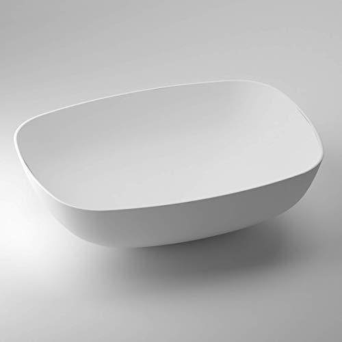 SCHWAN SPA - Lavabo da appoggio, vasca da bagno, in ghisa minerale marmore/Solid Surface | Valencia...