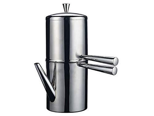 Ilsa - Cafetera napolitana de acero inoxidable, 9 tazas