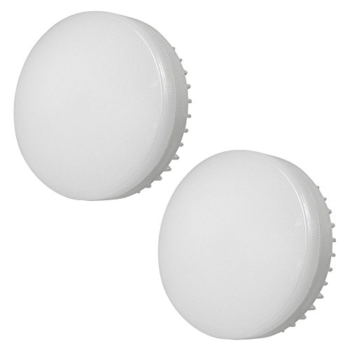 MENGS Paquete de 2 Bombilla LED GX53 7W Lámpara LED Equivalente a 55W luces LED, lampara LED Blanco Frío 6000K, 700LM, AC 85-265V Luz LED lampara ahorradora de energia