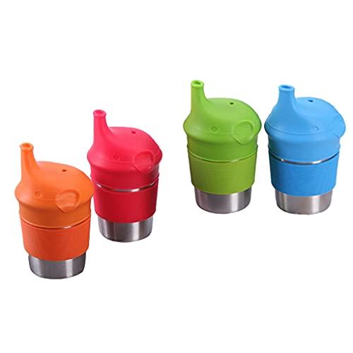 #N/a Vaso de agua de viaje en casa de 4 tazas de acero inoxidable, perfecto para interiores y exteriores para niños y adultos - 230 ml