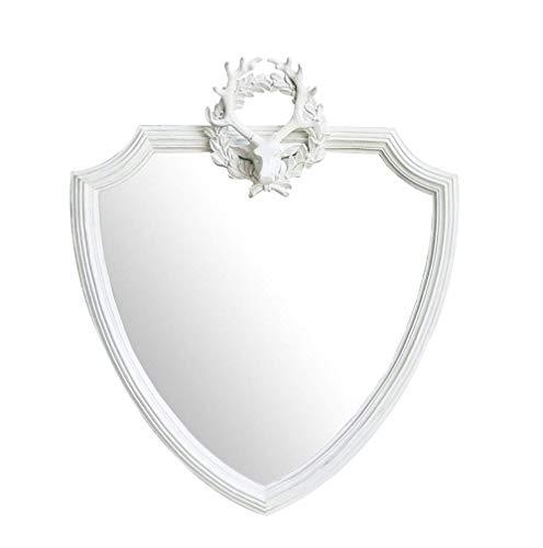 CENPEN Espejo de baño nórdico vintage colgante espejo, espejo de baño de resina, espejo decorativo para el espejo protector solar
