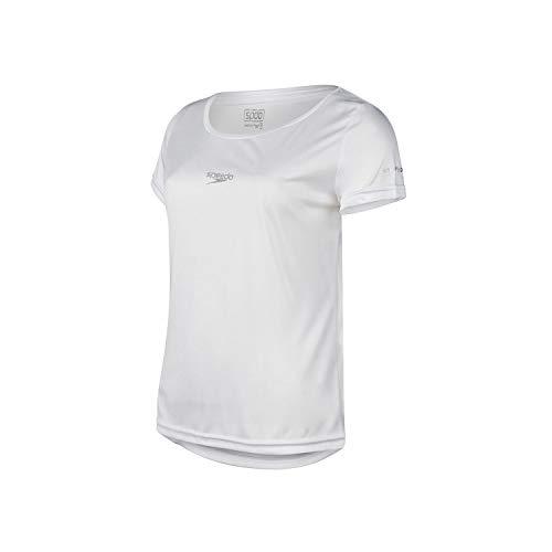Speedo Camiseta Interlock Fem. Uv50 Mulheres M Branco