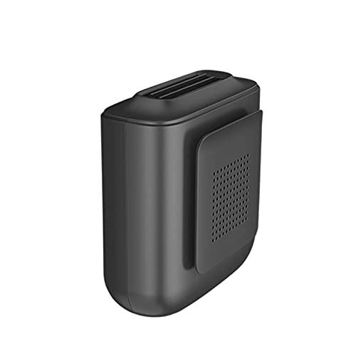 Unknows Portable Waist Clip Fan, Portable Mini Waist Clip Fan USB Rechargeable Lazy Waist Cooler Neckband Fan 3.94x3.74x1.69 Inches