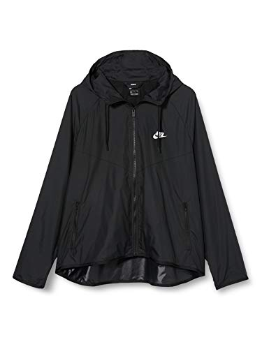 Nike Sportswear, Giacca A Vento con Cappuccio Donna, Black/Black/White, L