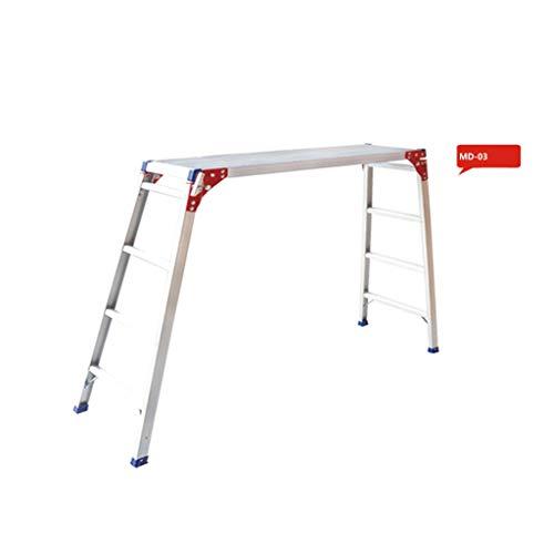 C-J-Xin Family Autowash-ladder, voor autowassen, plateau, metaal, platformladder, huishouddecoratie, staande ladder, huishoudtrap 50 * 185 * 125cm