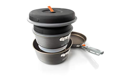 GSI Outdoors, Pinnacle Base Camper, Camping Cook Set, Superior Backcountry Cookware Since 1985, Large