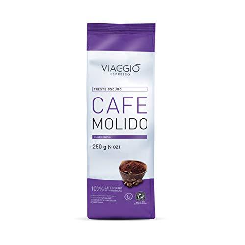 Viaggio Espresso Café molido blend original Tueste Oscuro (750 GR (Pack de 3))