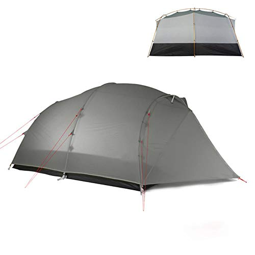 4 Persona ultraligero tienda 15D/210T gran espacio 3/4 temporada al aire libre senderismo tiendas camping caza tienda