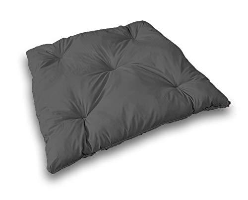 One Dark Grey Floor Cushion 40 x 40 inches Sleeping Mat Soft Floor Pillow Seating Reading Meditation Cushion Kids Play Mat for Teepee Tent Playhouse Big Pillows