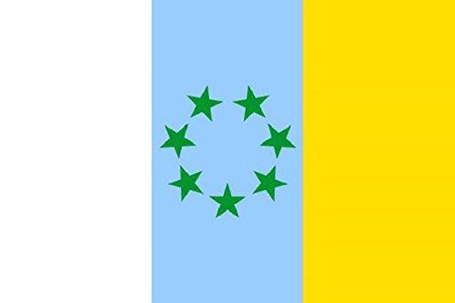 Durabol Bandera de Canarias con Estrellas- tricolor canaria-El MPAIAC Canario 150*90 cm Satén .