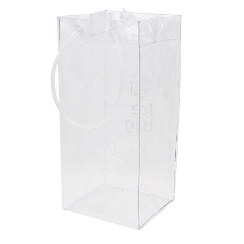 PVC Champagne Drink Wine Beer Bottle Ice Bag Chiller Cooler Clear