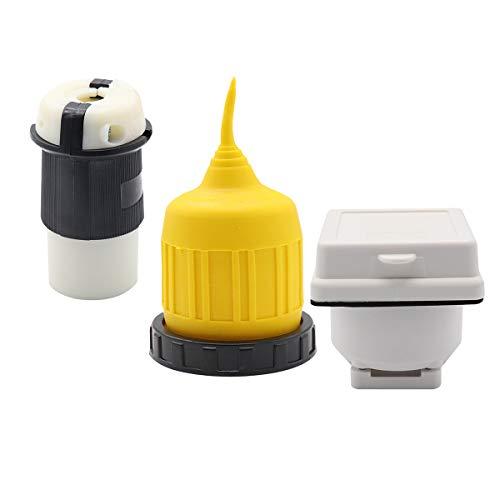 Dibiao 3 stuks/set 30 A stopcontact met waterdichte kofferbak-kit Twist-Locking-aansluiting voor caravans en campers