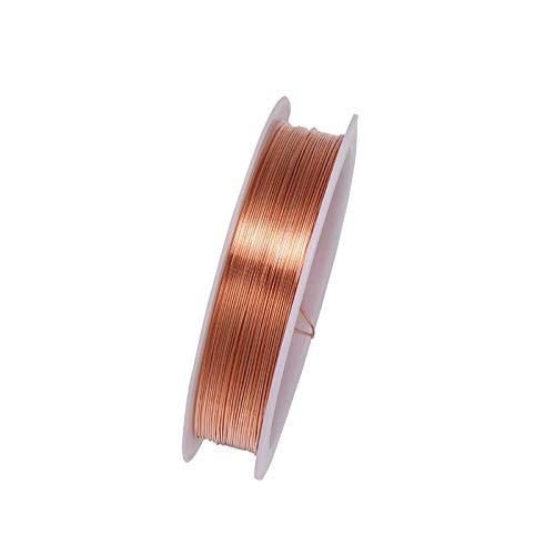 tooloflife - Rotolo di filo di rame resistente all'ossidazione, per perline e gioielli, 0,8 mm, colore: Rosso rame