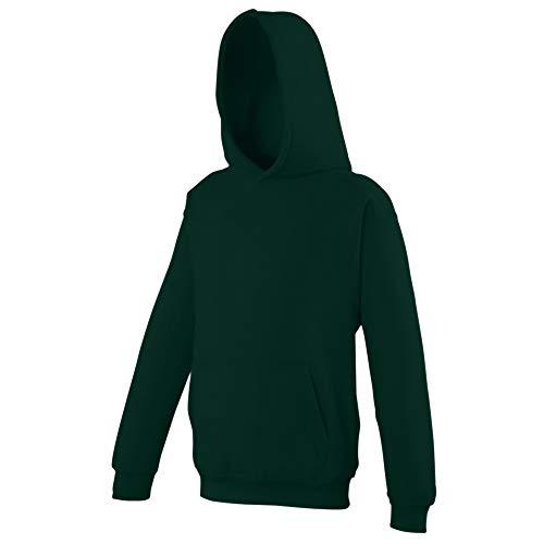 Awdis - Sudadera con capucha para niños/niñas Unisex - Ropa para deporte/colegio/entrenamiento/activiades extraescolares (7-8 años/Bosque)