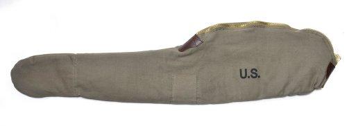 World War Supply US WW2 M1 Carbine Fleece Lined Carry Case Marked JT&L 1944 Dark OD Color