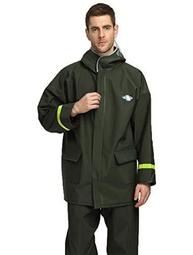 Man's/Woman's Herbruikbare Raincoat Jacket, Hooded Regenkleding met Pocket voor buitenshuis Fietsen, Hardlopen, Vissen waterdicht pak,XL