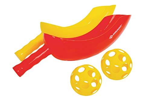 Schildkröt Scoop Ball Set, 2 Schläger, 2 Bälle, Geschicklichkeitsspiel, inklusive wiederverschließbarer Netztasche, 970131