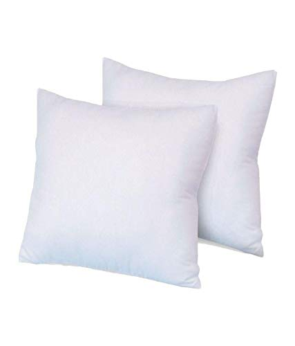 VL Pack of 2 Extra Deep Filled Cushion Pads 100 Percent Polyester Hollowfibre Inserts Fillers Scatters (26x26)