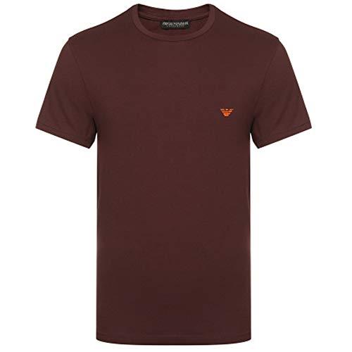 Emporio Armani Logo Stretch Ondergoed T-Shirt Bordeaux 110853 9A512