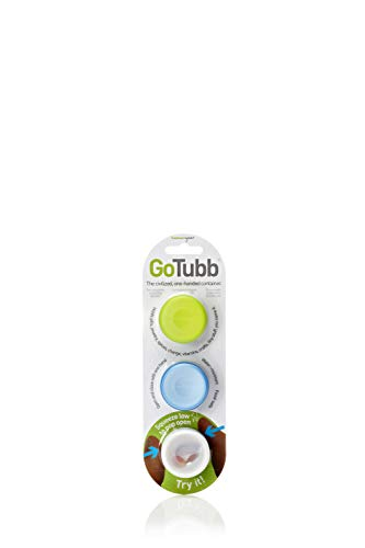 Humangear HG0210 GoTubb, Clear/Green/Blue, Small, 3 Count (Pack of 1)