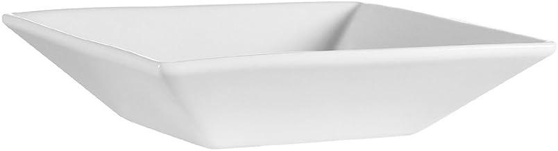 وعاء مربع من البورسلين الأبيض الفائق من CAC China 7-Inch by 2-Inch, 18-Ounce F-QB7