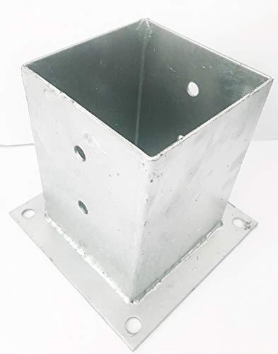 Pfostenträger 100x100x150 zum Aufdübeln Postenhülse Stützenfuß feuerverzinkt