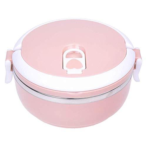 Fiambrera Bento aislada con utensilios portátiles, 2 compartimentos sellados a prueba de fugas de acero inoxidable para niños o adultos