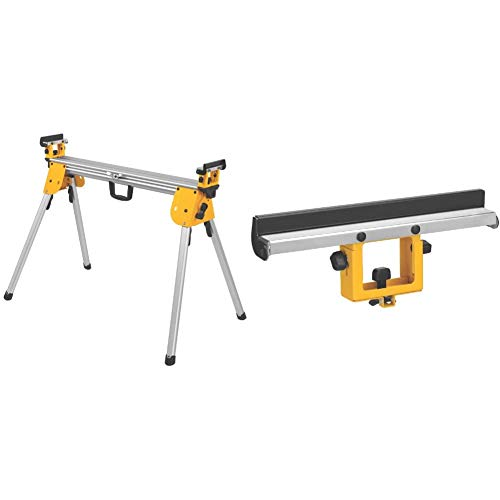 DEWALT Miter Saw Stand, Compact (DWX724), Silver & Miter Saw Stand Material Support/Stop (DW7029)