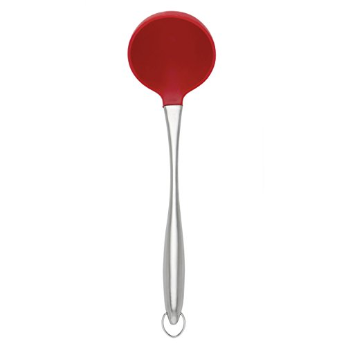 The Mexican Kitchen by Rick Bayless Stainless with Silicone Ladle, Red