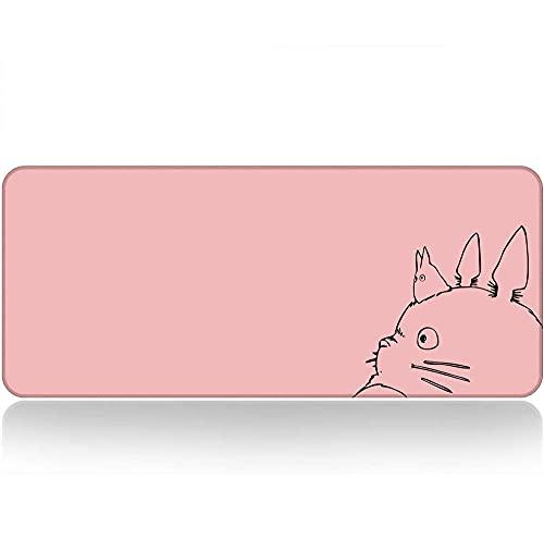 Alfrombrillas de ratón para Gamers Kawaii Pink ratón Gato de Dibujos Animados...
