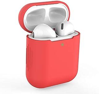 Funda AirPods Silicona Compatible con AirPods 2 & 1, KOKOKA Fundas Protectora de Silicona para AirPods LED Frontal Visible...