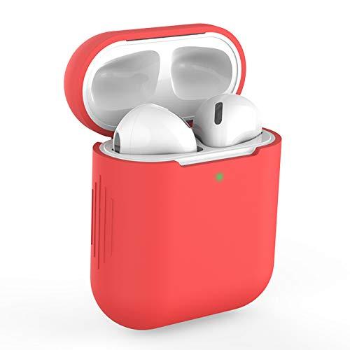 KOKOKA - Funda de silicona para Airpods, compatible con AirPods, a prueba de golpes, LED frontal visible, soporte de carga inalámbrica