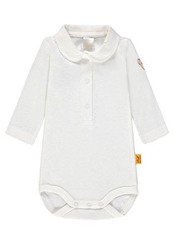 Steiff Steiff Baby-Mädchen 1/1 Arm Formender Body, Weiß (Cloud Dancer|White 1610), 86
