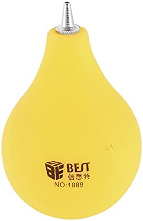 eDealMax Amarillo de goma polvo de la Bomba del limpiador del soplador Para la lente de