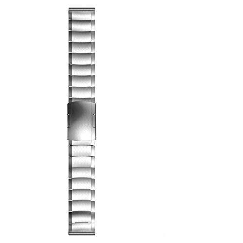 REDCVBN Bracelet de Montre, 22mm 20mm Bracelet de Montre pour Samsung Galaxy Watch 42 46mm Bracelet en Acier Inoxydable Gear S3 Bracelet (Couleur : Argent, Taille : 22mm)