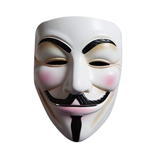 DMAR V para Vendetta Mask, Plástico ABS Anónimo Guy Fawkes Cosplay Máscara Fiesta de Disfraces Prop Juguetes Blanco