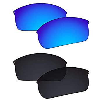 Galvanic Replacement Lenses for Oakley Wiretap OO4071 Sunglasses - Ice + Black Polarized - Combo Pack
