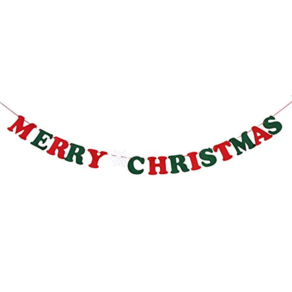 Burlap Christmas Banner, Santa Elk Christmas Tree and Socks Crafts Flags Banner Home Decor Bunting Garlands Holiday String Ornaments (Holiday Letters)
