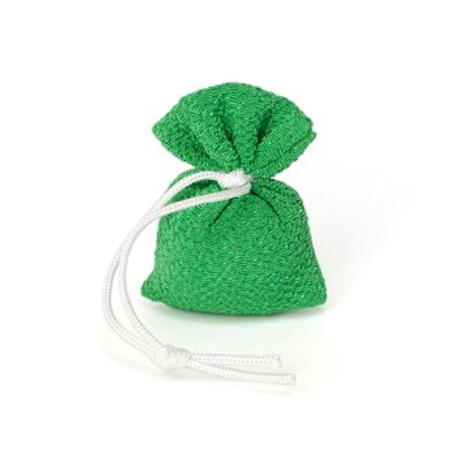 枯渇する発疹建築家松栄堂 匂い袋 誰が袖 携帯用 1個入 ケースなし (色をお選びください) (緑)