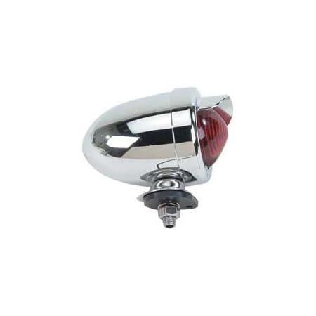 Kiley Retro Classic Bicycle Bullet Head Light 1W Super LED Metal Chrome Bikes