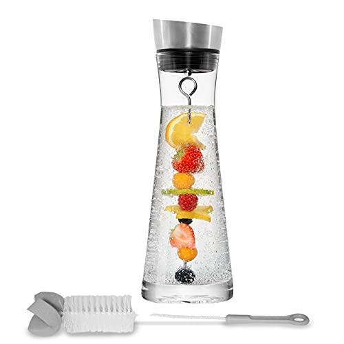 STONELINE® Glaskaraffe mit Fruchtspieß und Spülbürste