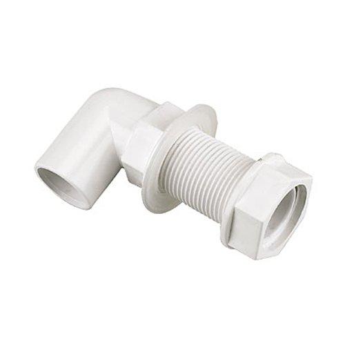 Bulk Hardware BH02955 Gebogener Überlauftankanschluss, Weiß