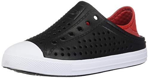 Skechers Kids Boys' Cali Gear Guzman Stepz Sneaker, Black/Red, 1 Medium US Little Kid