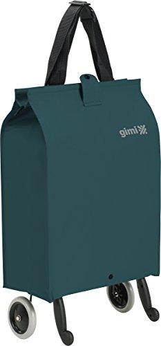 GIMI Brava Plus Trolley Carrello Portaspesa, Portata 30 kg, Sacca con Zip, Maniglia Regolabile, capacità 38 L, Poliestere, Blu, 7 x 45 x 30 cm